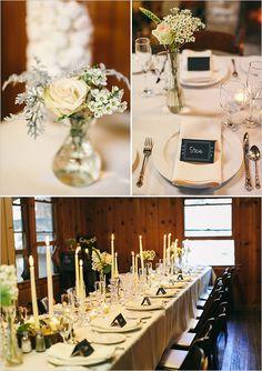 romantic rustic table decor @weddingchicks