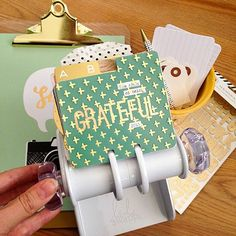 The @heidiswapp MemoryDex Spinner is perfect for a gratitude journal! See how @precocioustessa created the 'ABC's' of gratitude on her cards! #ontheblog #pinkpaislee #hsmemorydex by pinkpaislee