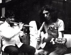 George accompanies a flautist---1976