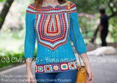 Patrón #1459: Blusa a Crochet | CTejidas [Crochet y Dos Agujas]