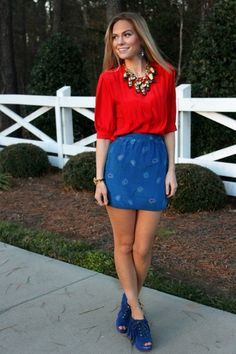 red white and blue fashion - Google Search