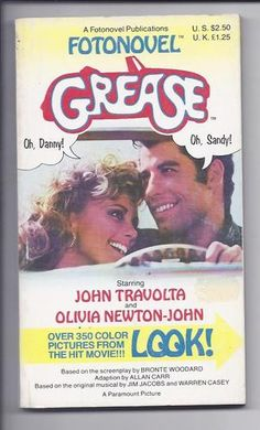 Grease FOTONOVEL Rare 1978 movie collectable in superb Condition!
