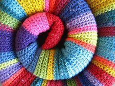 Vívora de crochet: una especie sin duda muy colorida.