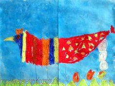 Tekenen en zo: onderbouw cooperatief: samen 1 kip Teamwork, Tie Dye Skirt, Cool Stuff, School, Kids, Painting, Decor, Art, Carnival