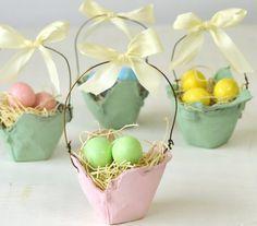 Egg carton baskets