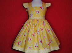 Hey, I found this really awesome Etsy listing at https://www.etsy.com/listing/262153720/3t-ready-to-ship-girls-yellow-floral