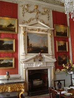 Crimson Dining Room Castle Howard