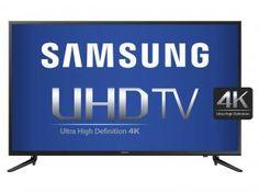 """Smart TV LED 4K Ultra HD 55"""" Samsung UN55JU6000GX - Conversor Integrado 3 HDMI 2 USB Wi-Fi"""