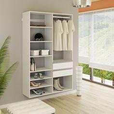 Guarda Roupa Casal Sem Portas Modelo Closet KT1206 - Getama Móveis