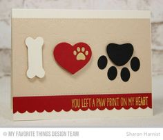 Pet Accents, Blueprints 23 Die-namics, BB I Knead You Stamp Set, Staggered Paw Prints Stencil - Sharon Harnist #mftstamps