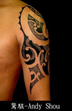 integrated with the totems of Maori in New Zealand, snake totems of the Taiwan natives #totem #tattoo