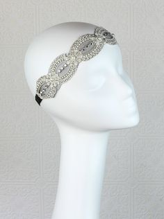 Great Gatsby Headband  Bridal Headband  Lace by BlackLlamaStudio, $20.00