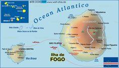 Map of Fogo (Cape Verde) #CapeVerde #TeamCapeVerdean #TeamFunana
