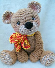 Teddy Bears are perfect for hugging. Make my newest teddy bear. He's 16 inches tall from the top of his head to the bottom of his feet when ...