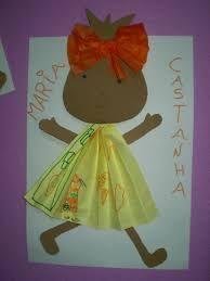 Resultado de imagem para maria castanha Black History, Activities For Kids, Art For Kids, Disney Characters, Fictional Characters, Paper Crafts, Education, Christmas Ornaments, Disney Princess