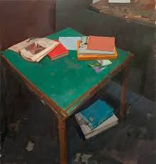 Alexander Fowler, Books on a table Oil on canvas, 86 x 81 cm (via art) Painting Still Life, Still Life Art, Painting Courses, Richard Diebenkorn, Painting Gallery, Contemporary Paintings, Contemporary Interior, Painting Inspiration, Life Inspiration