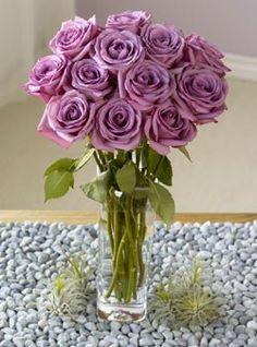 One Dozen Lavender Roses $49.95 #bestseller