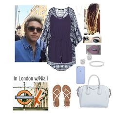"""""""In London with Niall"""" by tiffany-london-1 ❤ liked on Polyvore featuring New Look, Billabong, Givenchy, Robert Rose, Bloomingdale's, Michael Kors and WALL"""