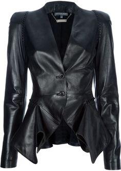 Alexander McQueen structured leather blazer
