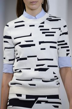 "For quilting: hautedeath: "" Jil Sander ss 15 "" Fashion Details, Look Fashion, Autumn Fashion, Womens Fashion, Fashion Design, Runway Fashion, Textiles, Looks Style, Style Me"