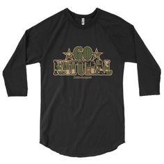 "Go Natural ""Green Camouflage"" 3/4 Sleeve Raglan Men's T-Shirt"