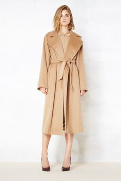 The classic tan coat is reborn with a slouchy fit for some extra style.