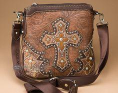 Designer Cross Western Messenger Bag Purse - Mission Del Rey Southwest