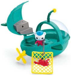 Travel around Octonauts style with the Gup A deluxe vehicle! Crank the propeller for the gup A to drive along the ground in a wavy motion. Open the hatch to reveal the inside deck and place Barnacles ...