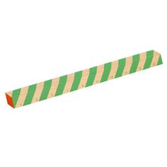Wooden ruler, thick green stripes, by Hay.