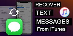 [2 #Methods] How To #Recover #Messages From #iTunesBackup. 1: Restore Messages From #iTunes #Backup. #Selectively Retrieve Messages From iTunes Backup Of #iOS #Device With iOS #DataRecovery #Software. Bonus #Tip: Avoid Future Messages #Deletion/Loss From Your iOS Device. Data Recovery, Text Messages, Ipod Touch, Restore, Itunes, Ios, Software, Future, Future Tense