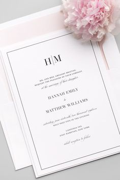 Looking for the perfect wedding invitation? Click to personalize this gorgeous design with your choice of colors, envelope liners, belly bands, and enclosure cards. Matching save the dates, wedding programs, menus and more are available!