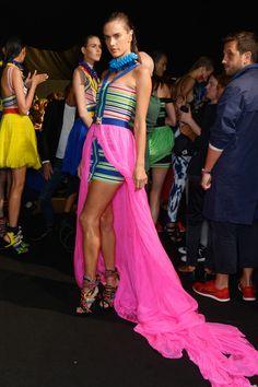 Alessandra Ambrosio Photos - DSquared2 - Backstage - Milan Fashion Week SS16 - Zimbio