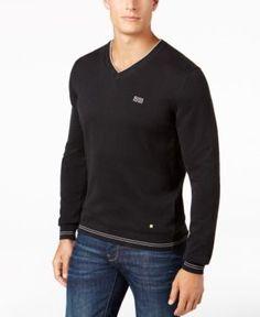 Hugo Boss Men's V-Neck Sweater - Black XL