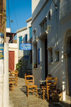 Cafe in Tinos Island, Aegean_ Greece
