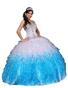 a099cdb43e34a2 Enjoy exclusive for ANGELA Women s Sweetheart Beads Ruched Long Ball Gown  Quinceanera Dress online