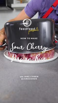 Power to the sour! Get the most of fresh sour cherries by transforming these tart beauties into a sweet and sour Sour Cherry Persian Rice, known as albaloo polo. Time to sharpen up your tahdig skills! 📽 video by @hayleyshmorris Rice Recipes, Potato Recipes, Recipies, Vegan Recipes, Dessert Recipes, Desserts, Persian Rice, Great Dinner Recipes, How To Boil Rice
