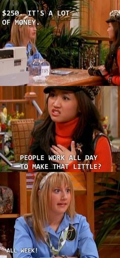 """When Maddie spoke on behalf of the working class: Community Post: 21 Of The Most Underrated Moments From """"The Suite Life Of Zack And Cody"""" Zack And Cody Funny, Zack Y Cody, Disney Facts, Disney Memes, Funny Facts, Funny Relatable Memes, Random Facts, Random Stuff, Sweet Life On Deck"""