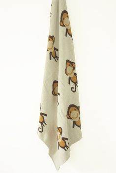 Monkey Baby Blanket NZ $49, this little Monkey has enough attitude to suit either gender. Perfectly warm, breathable & [attention Mum's] machine washable.