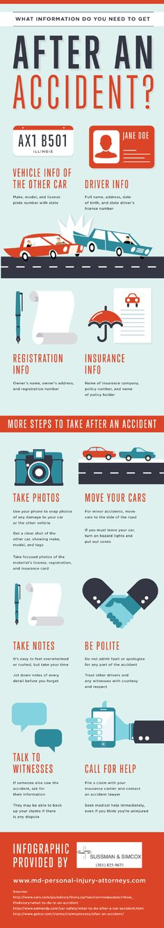 What Information Do You Need To Get After An Accident   #infographic #Accident #safety