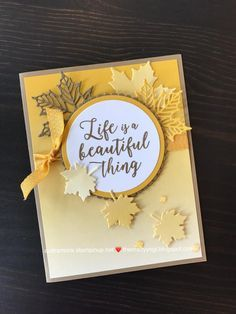 Stampin' Up! Making Greeting Cards, Greeting Cards Handmade, Fall Cards, Holiday Cards, Leaf Cards, Scrapbook Cards, Scrapbooking, Stampin Up Catalog, Stamping Up Cards