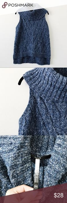 Kensie Blue Turtleneck Sweater Tank • brand: kensie  • condition: nwot  • size: medium   • trying to downsize my closet. bundle to save 💰 no trades or holds. happy shopping! Kensie Sweaters Cowl & Turtlenecks