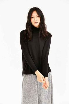 Silence + Noise Sam Cozy Mock-Neck Tunic Top - Urban Outfitters