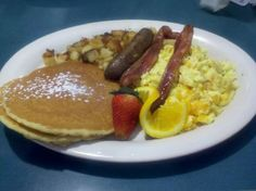This was what we had to eat at Stack's Pancakes. It was MORE than enough!