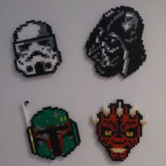 Star Wars magnets hama beads by omglinno