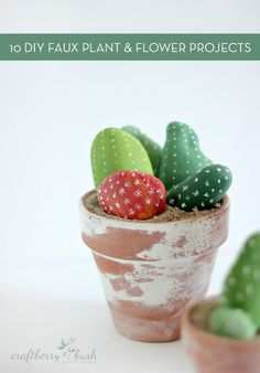 10 DIY Faux Plant and Flower Projects