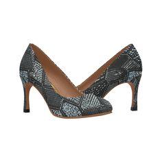 Dark Grey Mosaic Glass Women's High Heels (Model 048).Modern dark grey mosaic glass design. High Heel Models, Shoes Heels, Pumps, Custom Bags, Glass Design, Womens High Heels, Mosaic Glass, Laptop Bag, Dark Grey