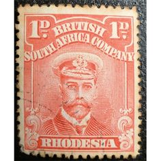 British South Africa Company, Rhodesia, King George V, 1/2 d, 1913