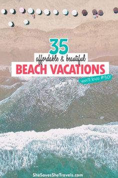 Looking for a cheap getaway? These 35 beach destinations are surprisingly affordable, and all gorgeous! Add these to your bucket list and plan your next getaway on a budget. | Cheap Vacation Ideas | Beach Vacations in the USA | Best Beaches on a Budget Time Travel, Places To Travel, Travel Destinations, Travel Ideas, Travel Inspiration, Travel Tips, Beach Travel, Beach Trip, Cheap Beach Vacations