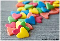 Homemade jumbo heart sprinkles