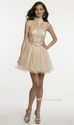 http://www.ikmdresses.com/Lace-Party-Dress-with-Keyhole-Back-p87406